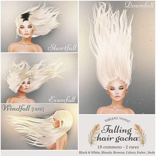 Tableau Vivant // Falling Hair Gacha @ the Arcade Sept!