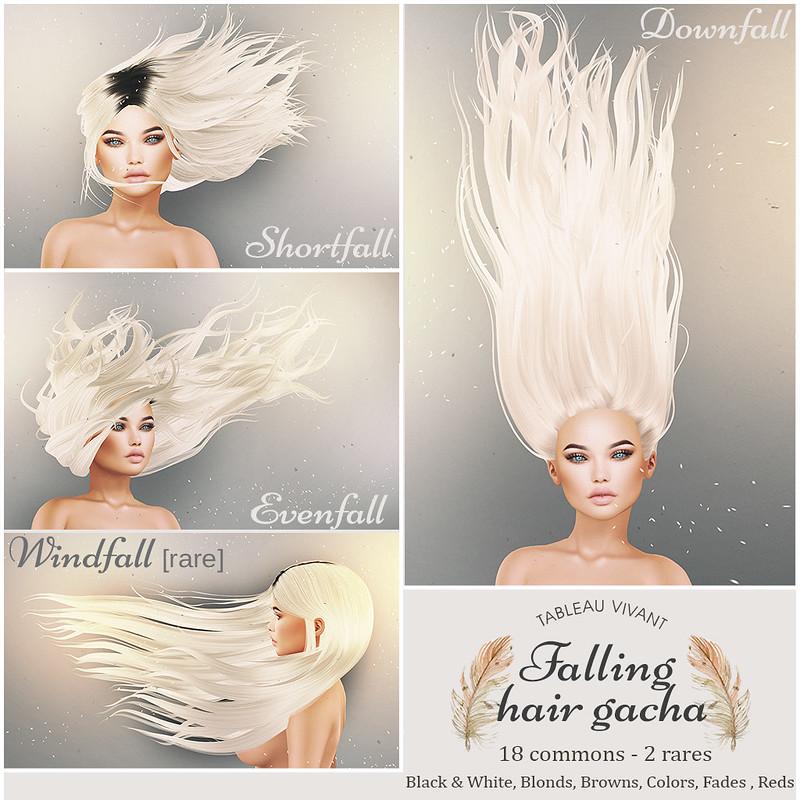 Tableau Vivant // Falling Hair Gacha @ the Arcade Sept!