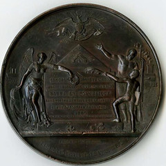 1866 French Abraham Lincoln Mourning Medal reverse