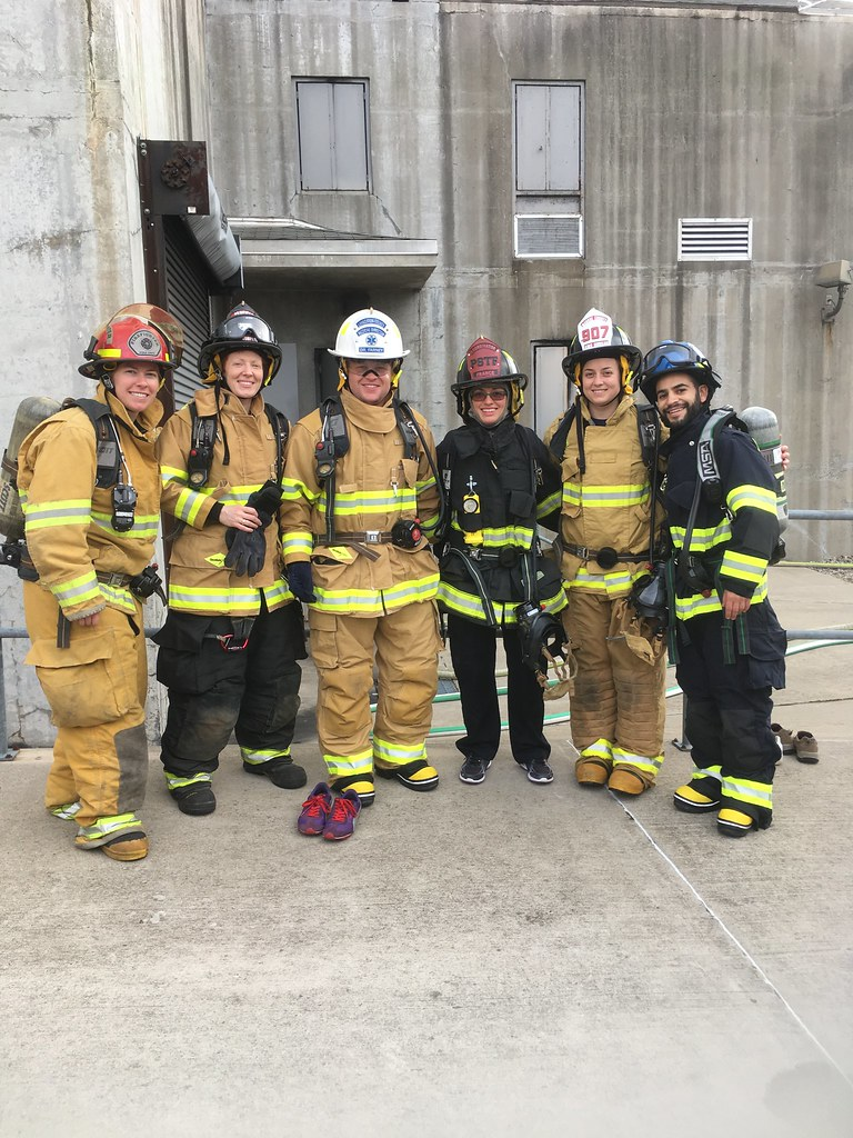 Residents at EMS Fire Day