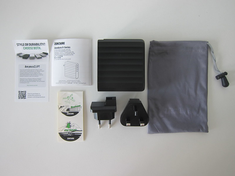 Zendure 63W USB-C PD Charger - Box Contents