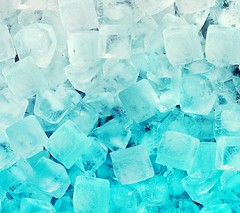 ice. It looks so beautiful. blue and white. I like It.