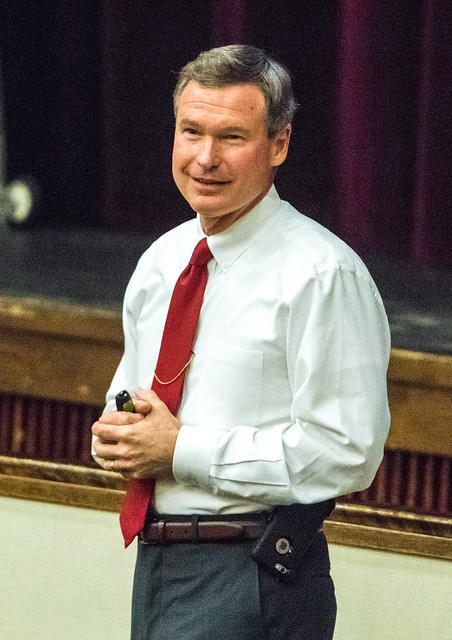 Dr. Greg Warren, former Delaware State Police captain and current program chair at WilmU, was co-presenter during this first school district-wide training.
