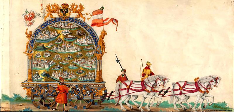 Triunfo del Emperador Maximiliano I, Rey de Hungría, Dalmacia y Croacia, Archiduque de Austria, XVI-XVII, f. 48, Biblioteca Nacional de España