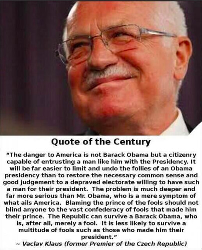 quote of the century - Obama voters the enemy
