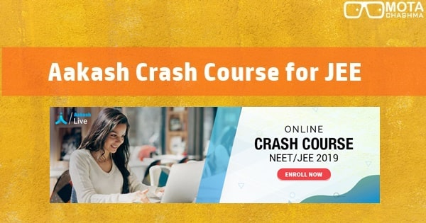 aakash crash course for jee main