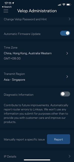 Linksys iOS App - Velop Admin