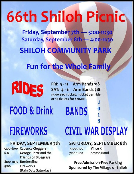 Shiloh Picnic 9-7, 9-8-18