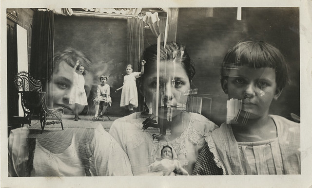 A Double Exposure of the Interior of Yacmett's Studio