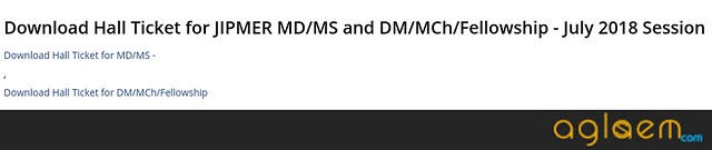 JIPMER DM M.Ch Fellowship 2019 Admit Card   Download Here!