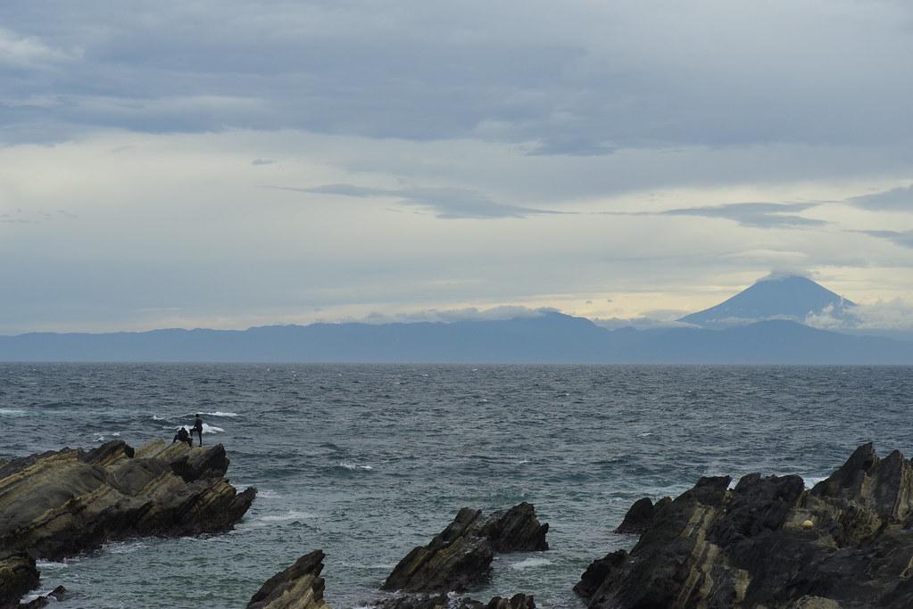 Mt Fuji with ocean