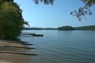Park and Boat Ramp at Lake Lanier