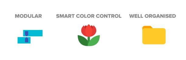 Modular | Smart Color Control | Well organised