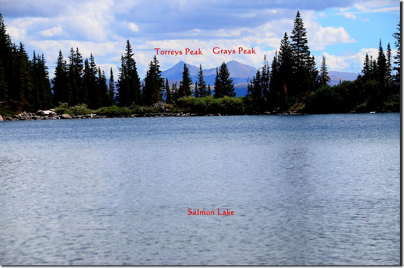 Greys and Torreys peaks as seen from Salmon Lake view to east_副本