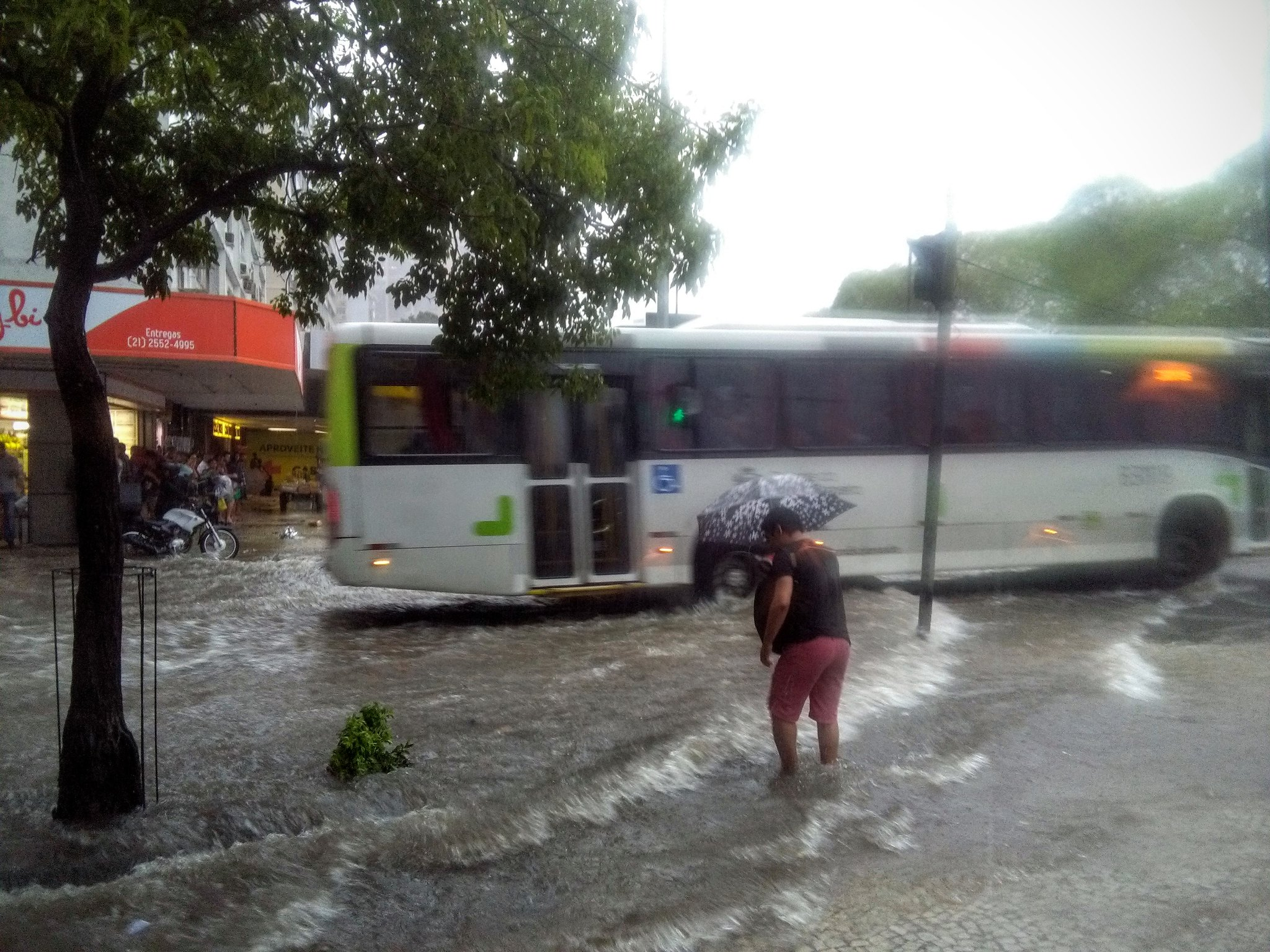 The flooded streets of Rio