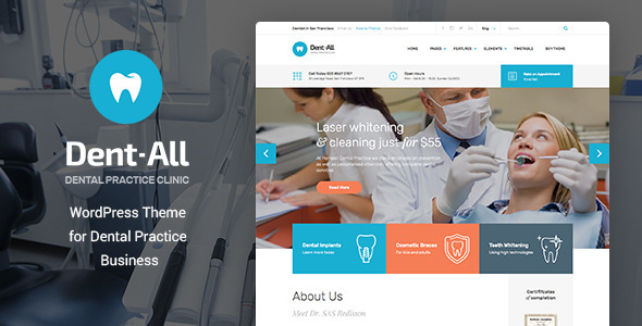 Dent-All v1.9 – Dental Practice WordPress Theme