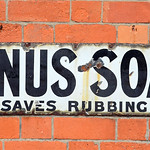 Sat, 2018-09-08 08:51 - It saves rubbing you know !! Lovely old enamel sign at the Great Central Railway.