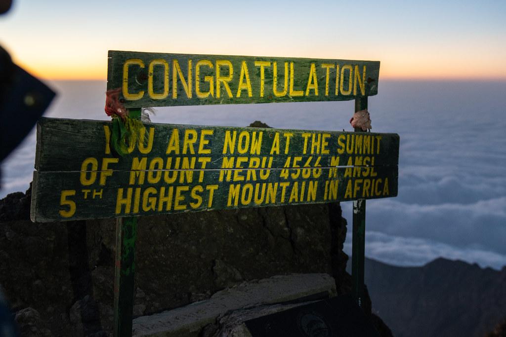 Peak at Mount Meru