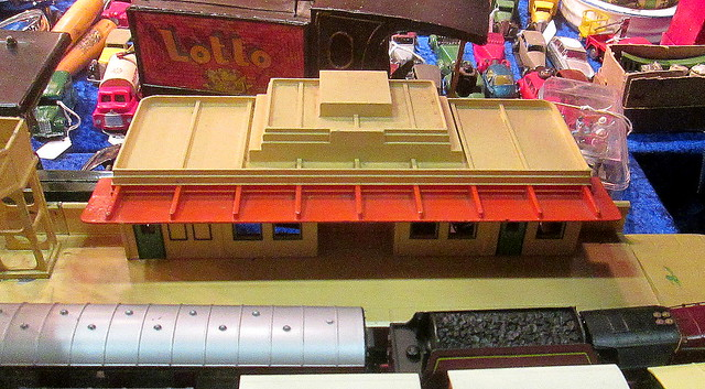 Art Deco Railway Station Model