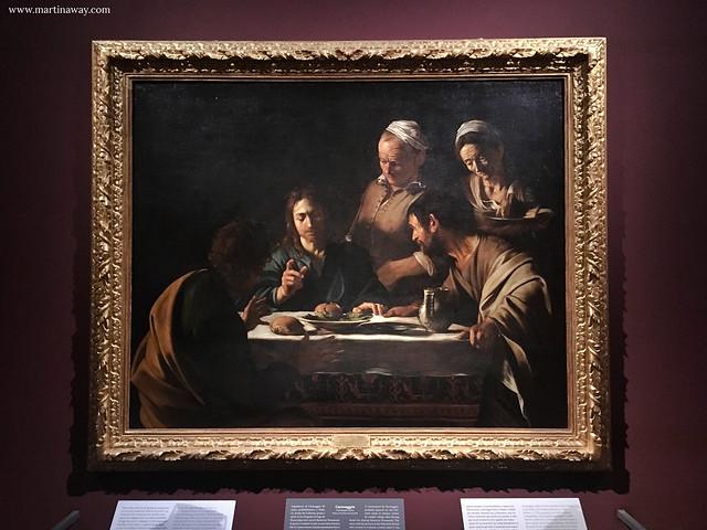 Cena in Emmaus, Caravaggio, sala 28