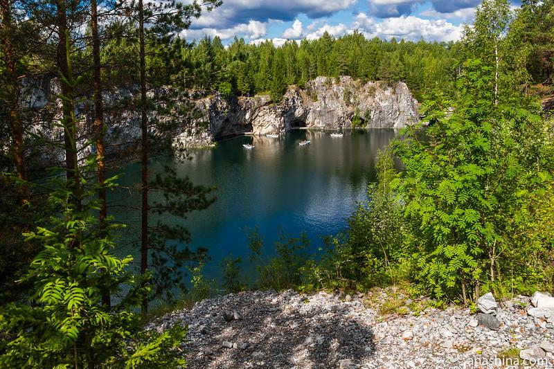 Большой мраморный карьер Рускеала, Карелия