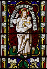 John Chandos Henniker Major, aged 22 months, in the arms of Christ (William Miller, 1850s)