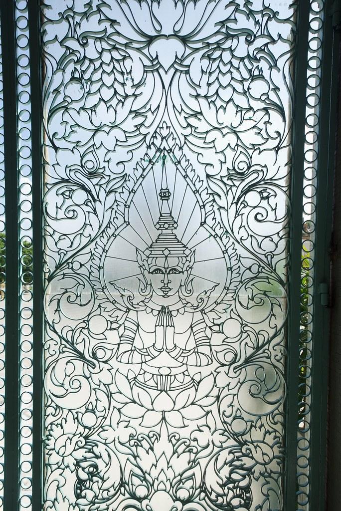Detalle palacio real de Phnom Penh en Camboya