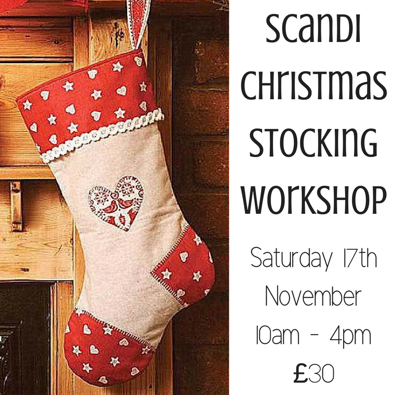 Scandi xmas stocking workshop