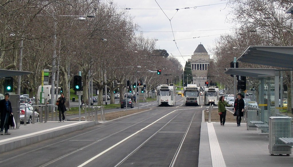 Then new superstops outside NGV, August 2008
