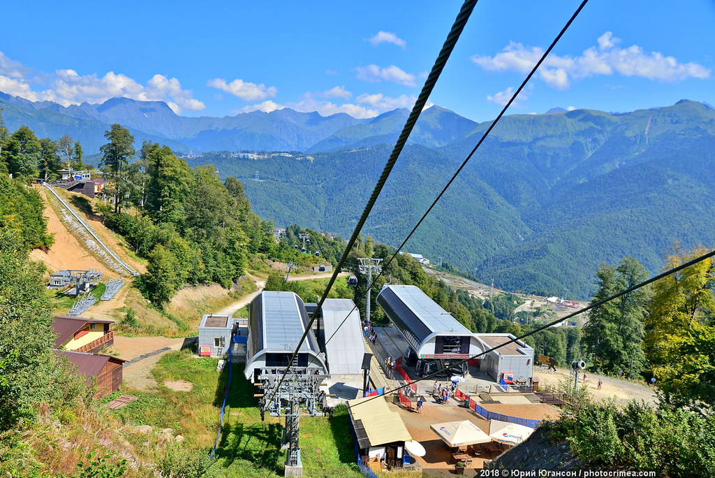 2320 meters. Conquering the top of meters, tell, Plateau, Caucasian, rubles, Farm, here, ridge, Aibga, cable car, August, which, Olympia, Reserved, later, lift, detail, height, sairon, Somehow
