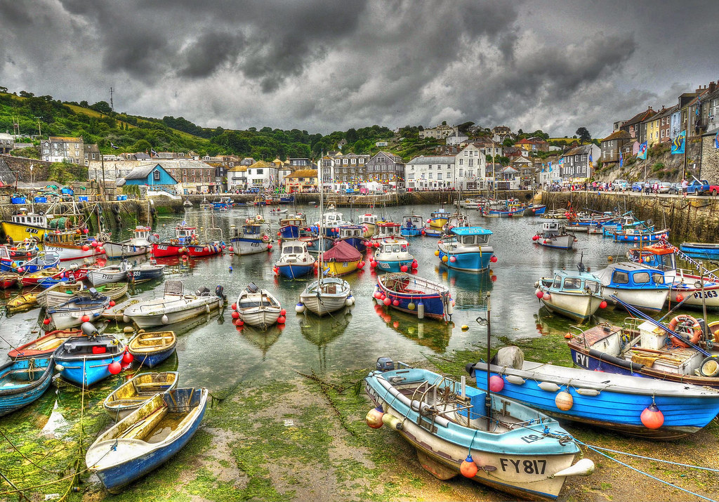 Mevagissey harbour, Cornwall. Credit Baz Richardson, flickr