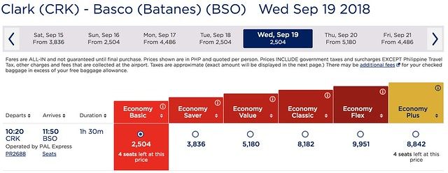 Clark to Batanes Philippine Airlines Promo One-Way