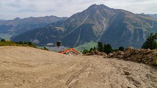 Bauarbeiten an der skitechnischen Verbindung Schöneben-Haideralm