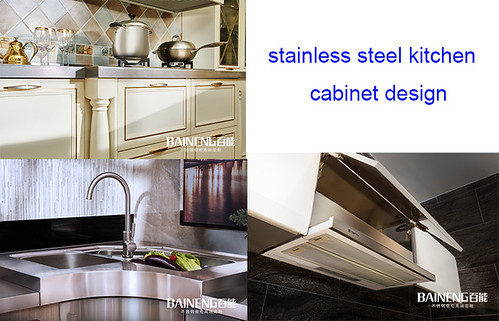 Baineng stainless steel kitchen cabinet design