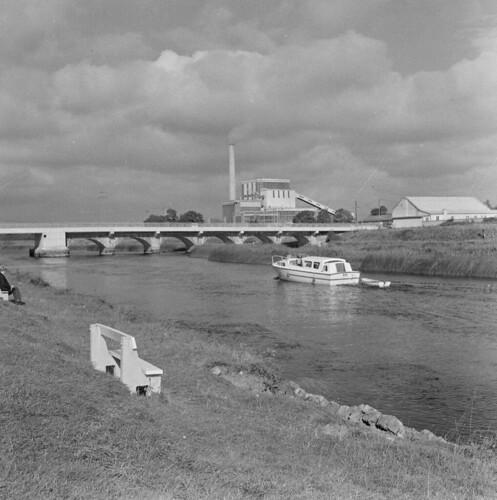 Boat on river, Lanesboro, Co. Longford