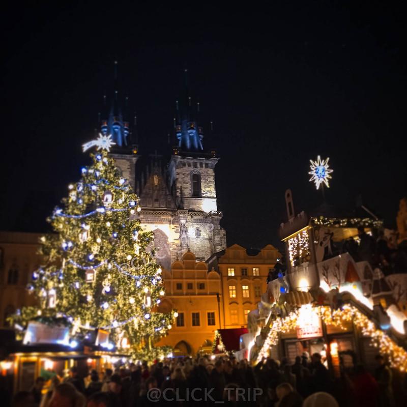 · Mercadillos de Navidad · Plaza Ciudad Vieja · Praga ·