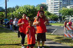 Hawaii Electric at American Heart Associationʻs Heart Walk  – August 11, 2018: Enjoying some great family time during the walk!