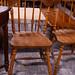 Dark wood kitchen chair E30