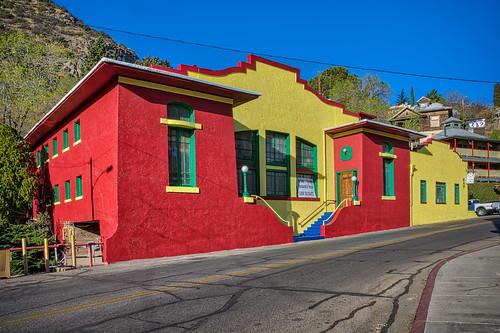 arizona bisbee californiacolonial spanishcolonia tombstonecanyon architecture buildings colorful horizontal landscape miningarchitecture miningtown oldwest unitedstates us