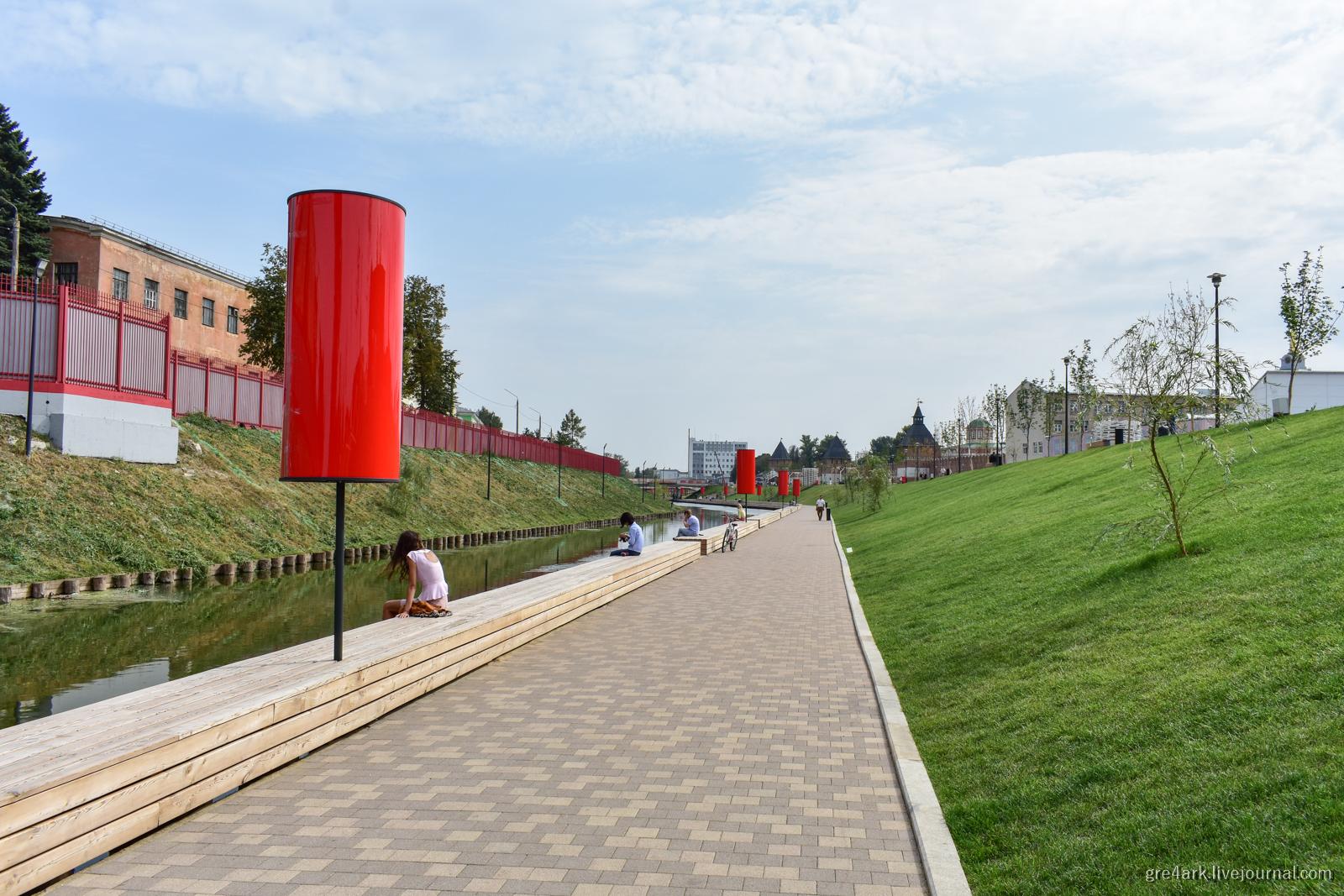 Новая набережная Тулы общественные зоны