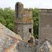 Le château de Pirou vu des toits : la tourelle