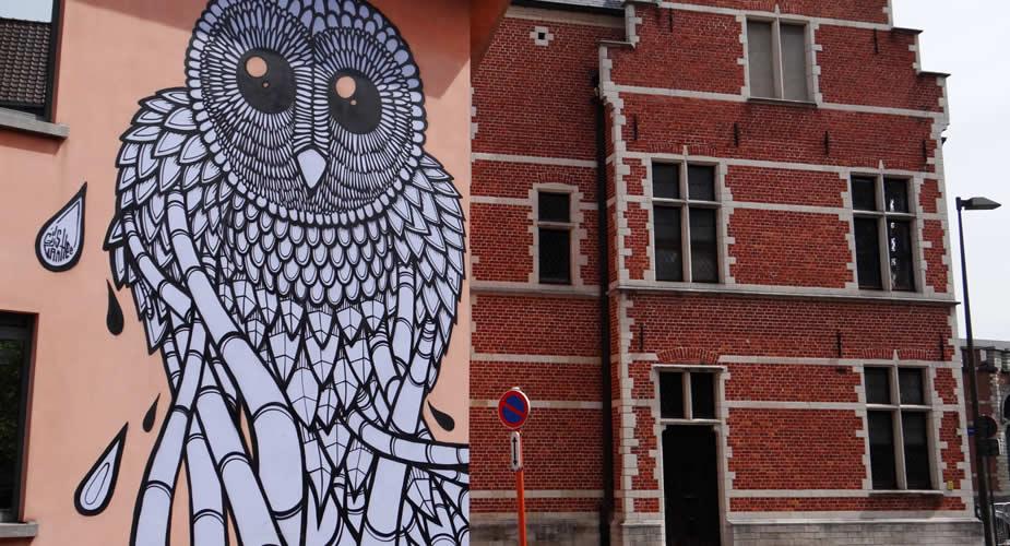 Street art Gijs Vanhee, Mechelen | Mooistestedentrips.nl