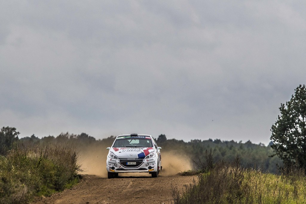 27 BROZ Dominik (CZE), TESINSKY Petr (CZE), ACCR CZECH RALLY TEAM, Peugeot 208 R2, action during the 2018 European Rally Championship PZM Rally Poland at Mikolajki from September  21 to 23 - Photo Gregory Lenormand / DPPI