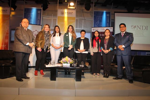 """Cátedra Perú N°84 de la USMP desarrolló conferencia: """"Gobierno Regional, Gobierno Municipal Mujer y Política"""" junto al Instituto Nacional Demócrata"""