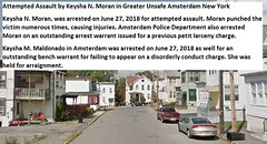 Attempted Assault by Keysha N. Moran in Greater Violent Unsafe Amsterdam New York Academy Street