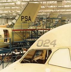 psa final assembly of the bae 146 at the hatfield-chester division december 1983.