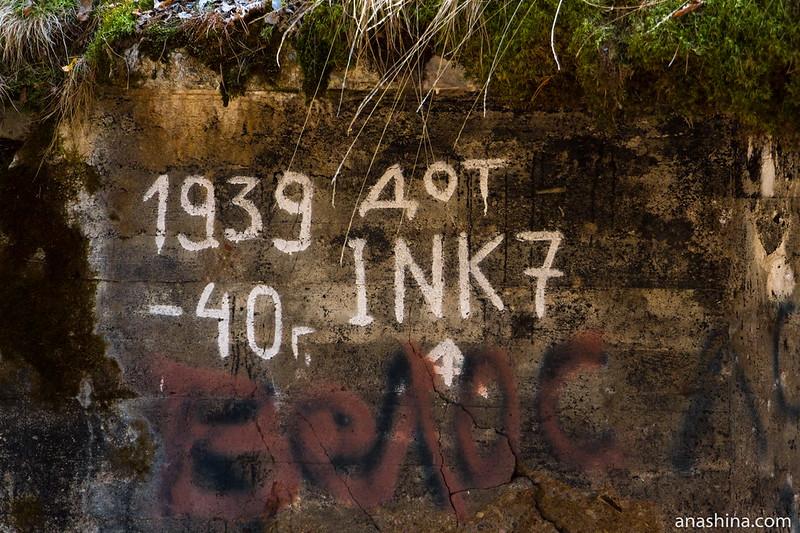 Развалины ДОТ №7 укрепрайона Инкиля (Ink 7)