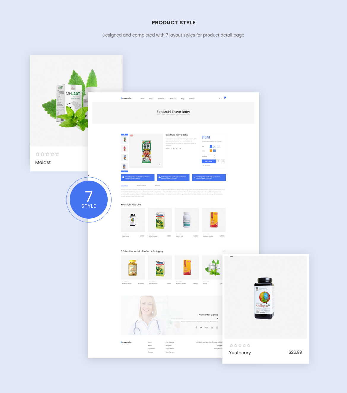 7+ product detail page layouts-pagebuilder-leo farmacia for healthcare and medical store