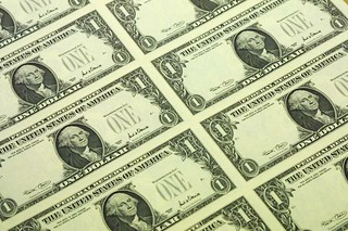 Series 2001 One Dollar sheet at BEP