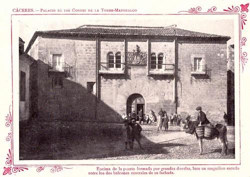 Cáceres. Palacio de los condes de la Torre-Mayoralgo